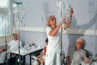 Patienten bei der Chemotherapie